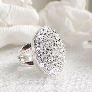 Handmade Sterling Silver Swarovski Crystal Ring